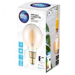 Ampoule LED connectée Filament 6W G95 Culot E27 Ambrée