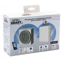 Kit : Bridge + Smart thermostatic head for gaz boiler