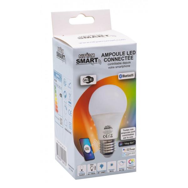 Smart LED bulb 9W multicolor (RGB) + Change of white (CCT)