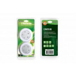 Palet LED avec détecteur de mouvements Lot de 2 palets LED
