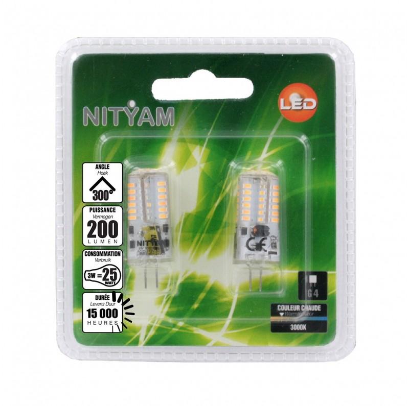 ampoule led capsule 3w culot g4 lot de 2 ampoules led ampoule led nityam nityam. Black Bedroom Furniture Sets. Home Design Ideas