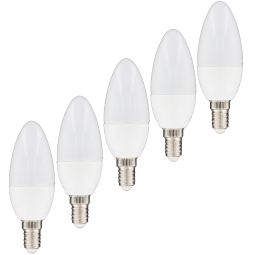 Ampoule LED flamme 4W Culot E14 Lot de 5 ampoules LED
