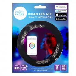 Ruban LED WIFI 5 mètres Multicouleurs +...