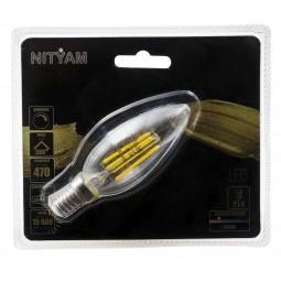 Ampoule LED filament CLAIRE Flamme Culot E14