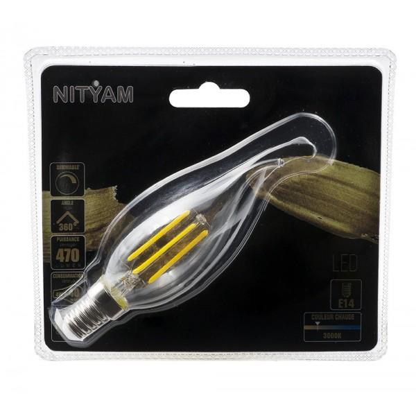Ampoule Led 4w Culot De Vent E14 Filament Claire Flamme Coup m8n0PvwOyN