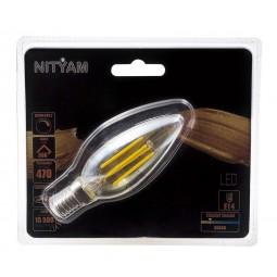 Ampoule LED filament AMBREE Flamme 4W Culot E14
