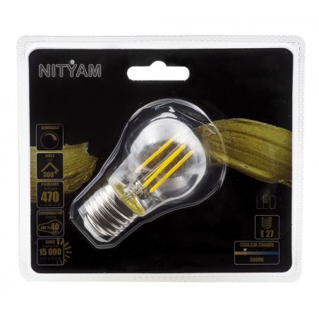 Ampoule LED filament CLAIRE SphŽrique Culot E27