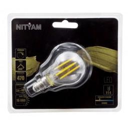 Ampoule LED filament CLAIRE Sphérique 4W Culot E14
