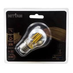 Ampoule LED filament AMBREE Sphérique 4W Culot E27