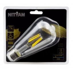 Ampoule LED filament CLAIRE ST64 Culot E27