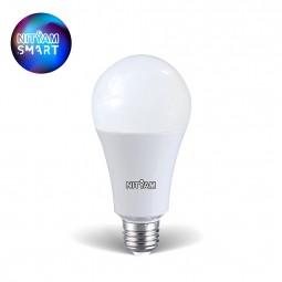 Ampoule Wifi 10W Culot E27 multicouleurs + blanc chaud - Compatible Amazon Alexa & Google Home