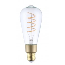 Ampoule Filament Wifi 4W ST64 Culot E27 Claire avec spirale - Compatible Amazon Alexa & Google Home