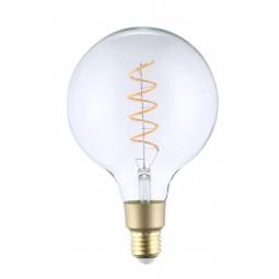 Ampoule Filament Wifi 4W G125 Culot E27 Claire avec spirale - Compatible Amazon Alexa & Google Home