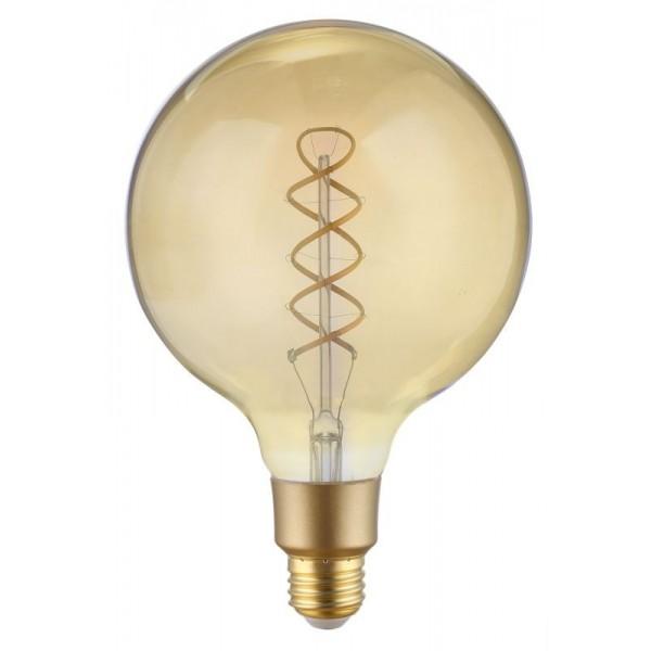 Ampoule Filament Wifi 4W G125 Culot E27 Ambrée avec spirale - Compatible Amazon Alexa & Google Home