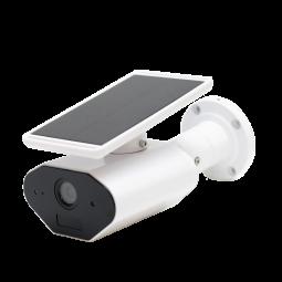 Caméra extérieure avec panneau solaire étanche IP65 - Compatible Amazon Alexa & Google Home