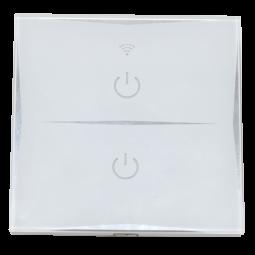 Interrupteur tactile Wifi intelligent 2 boutons - Compatible Amazon Alexa & Google Home
